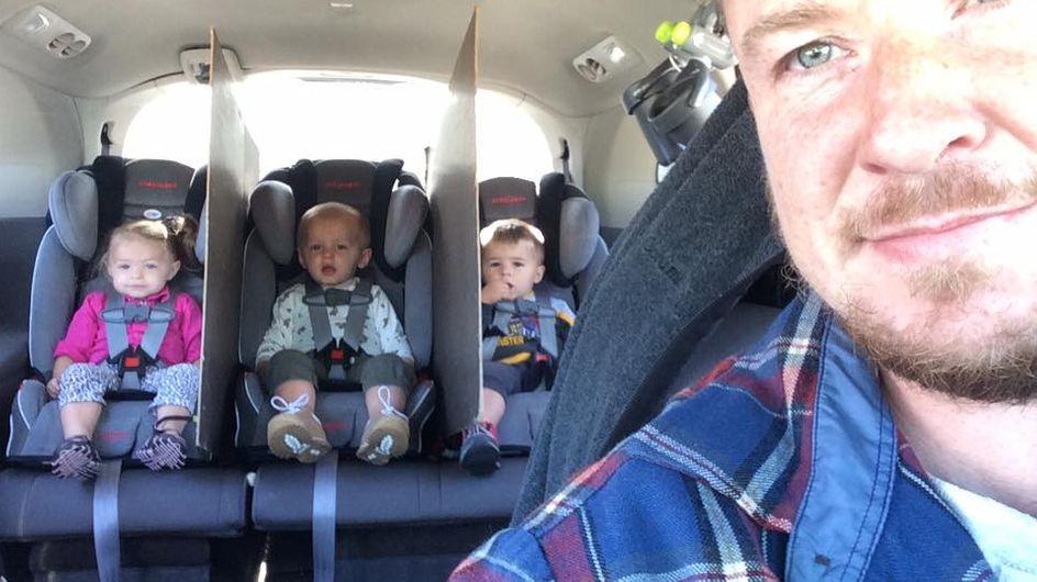 Nie wieder Streit im Auto! Dieser Drillingsvater hat DIE Lösung für alle verzweifelten Eltern