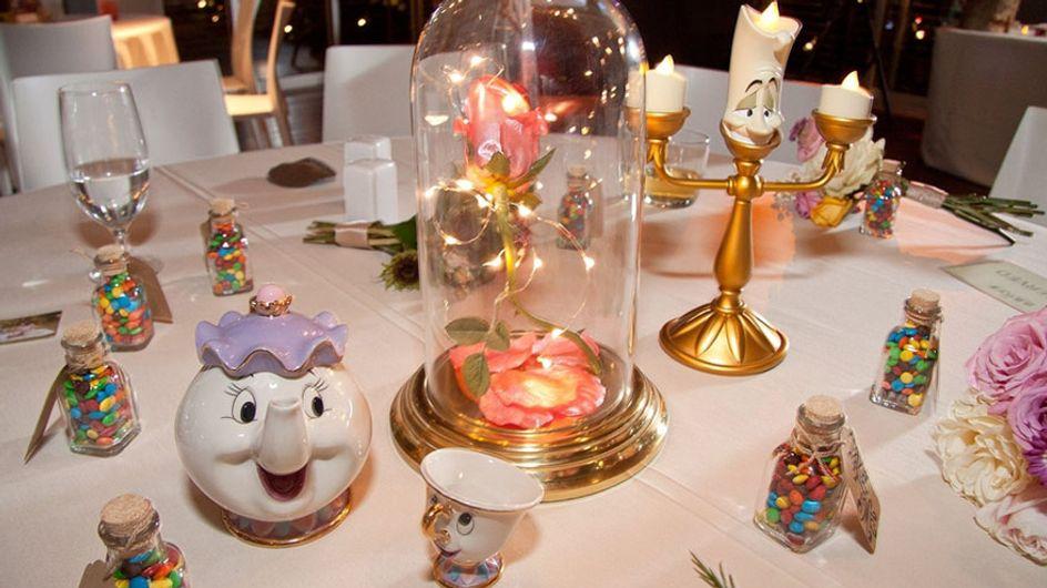 Pour leur mariage, ces fans Disney ont mis à l'honneur leurs dessins-animés préférés (Photos)