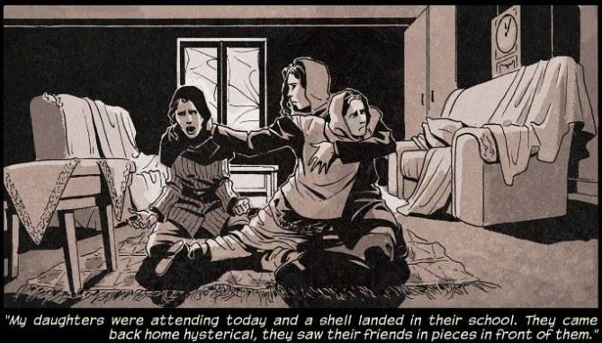 """""""Mes filles étaient à l'école mais une bombe est tombée...'"""