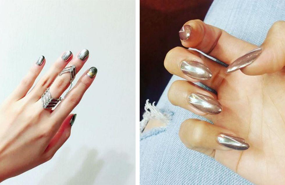 Bling, bling: Mirror-Nails sind jetzt DER Maniküre-Hit!