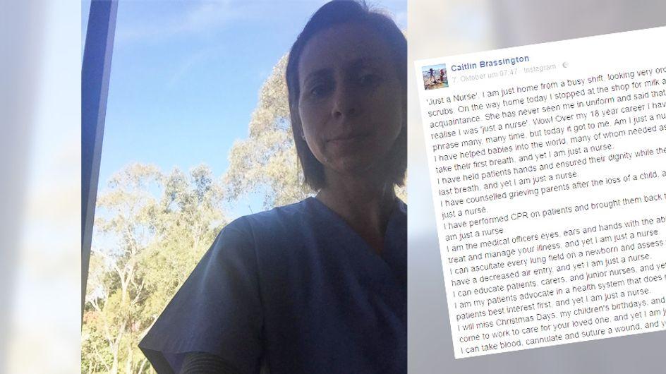 """""""Du bist NUR eine Krankenschwester"""" - Sie hat die richtige Antwort auf einen herablassenden Kommentar"""