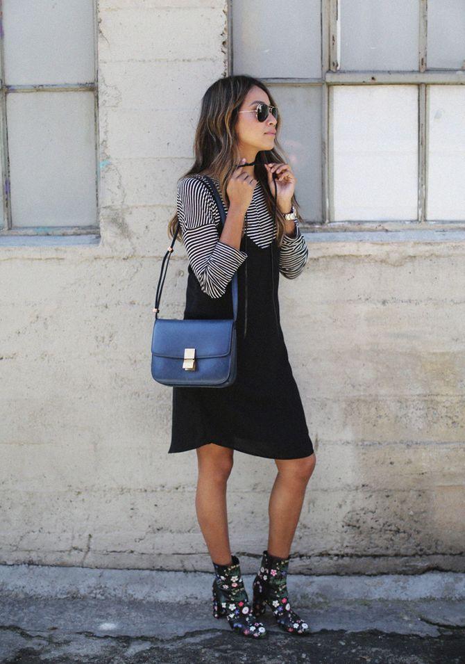 Auch über engen Rollkragenpullovern sehen die Slip Dresses gut aus