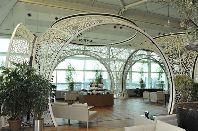 A sala vip da Turkish Airlines, em Istambul