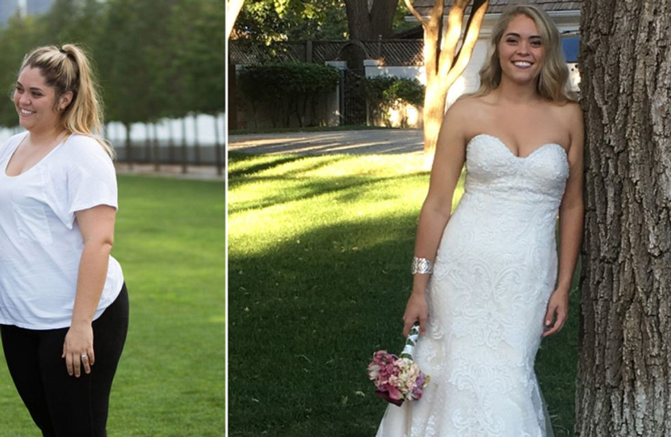 Unglaubliche Verwandlung: Diese Braut verliert zwischen Verlobung und Hochzeit fast 50 Kilogramm!