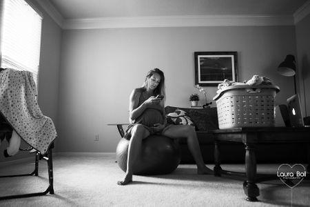 Accouchement naturel - la naissance d'Emilia