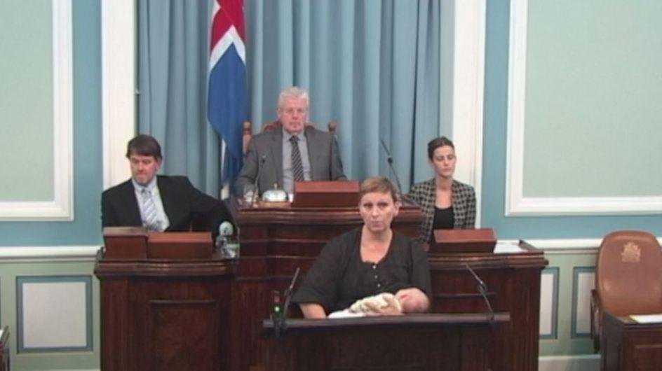 Une députée islandaise allaite en pleine séance au Parlement