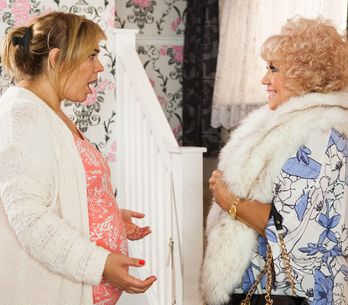 Hollyoaks 24/10 - Nana McQueen Shows Up On Myra's Doorstep