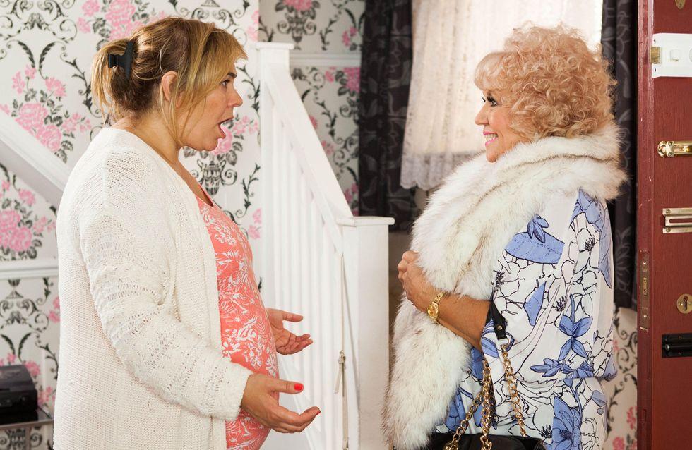 Hollyoaks 24/10 - Nana McQueen Shows Up On Myra's Doorstep