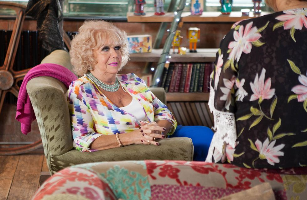 Hollyoaks 25/10 - Nana And Celine Spy On Myra's Date