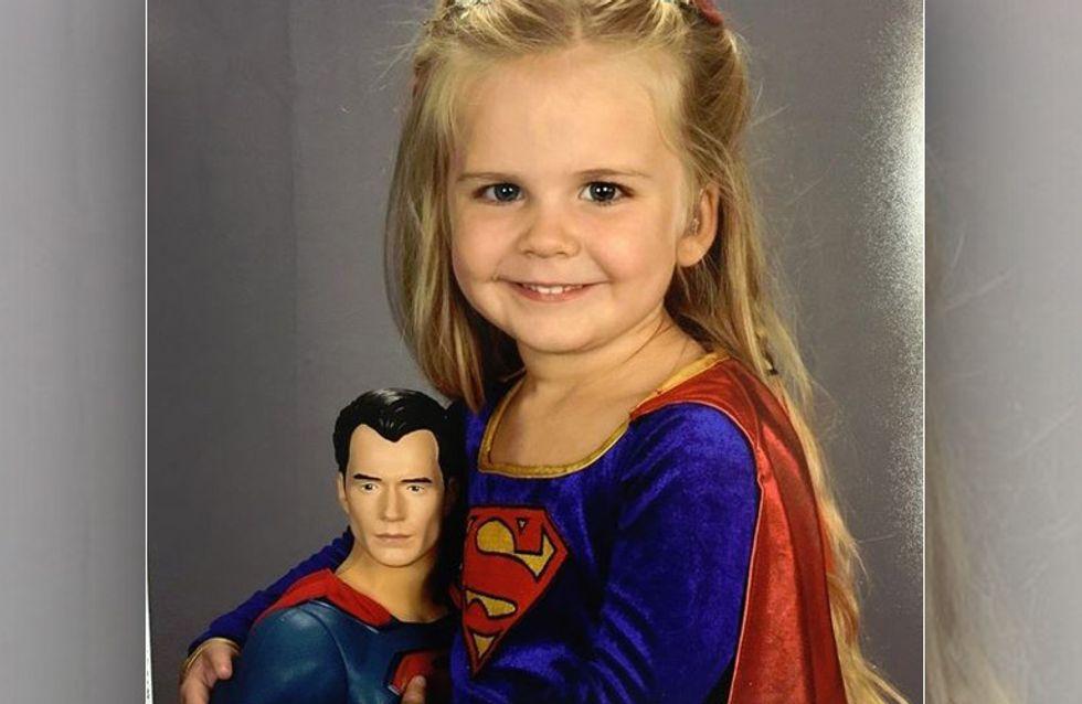 Ihr Outfit für die Schulfotos darf diese 3-Jährige selber wählen - und das Ergebnis ist großartig!