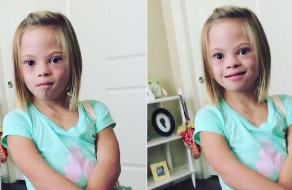 Die Botschaft dieser 7-Jährigen mit Downsyndrom inspiriert Menschen auf der ganzen Welt