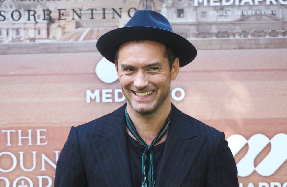 Accident de maquillage ou petite fantaisie... Qu'est-il arrivé aux yeux de Jude Law ? (photos)
