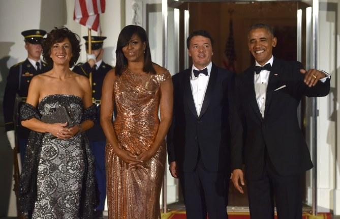 Michelle Obama, lors du dernier dîner officiel à la Maison Blanche