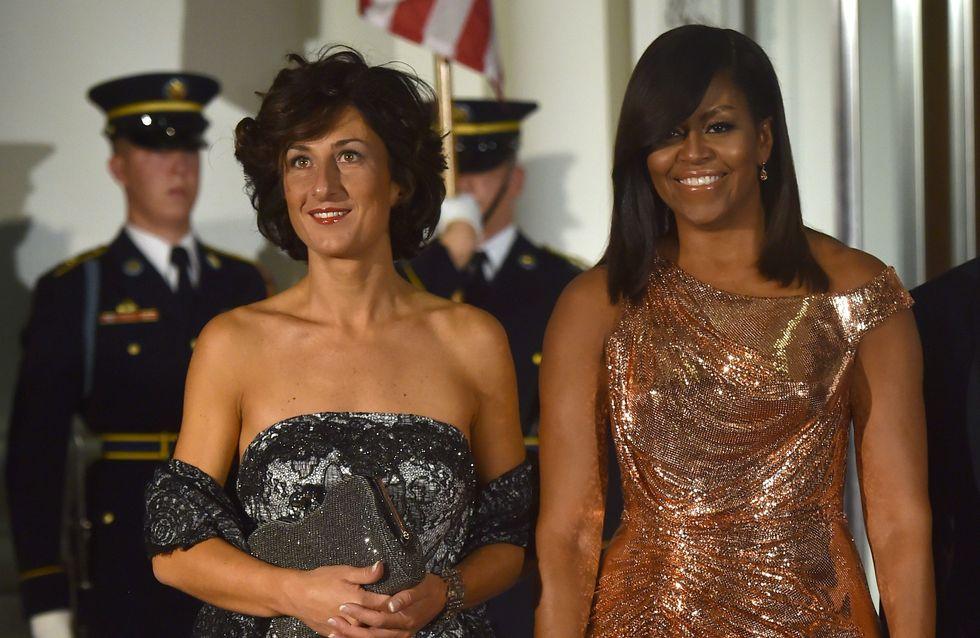 Pour son dernier dîner officiel en tant que First Lady, Michelle Obama opte pour une robe surprenante ! (Photos)