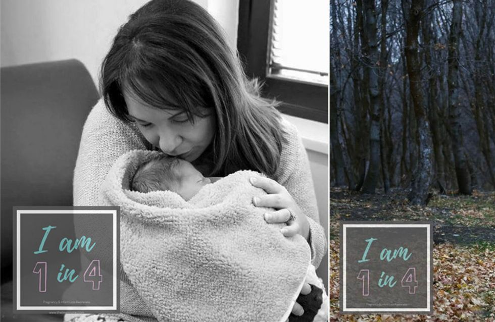 Ich bin 1 von 4 - Die Kampagne dieser Mutter spricht ganz offen über Fehlgeburten