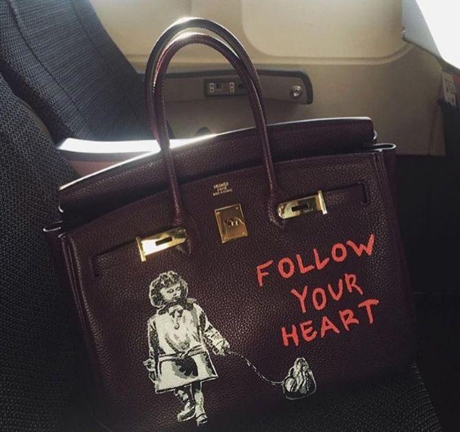 Bolsa customizada Hermès