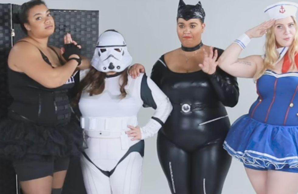 Pour Halloween, des femmes rondes essayent des costumes plus size et soulèvent un gros problème (Vidéo)