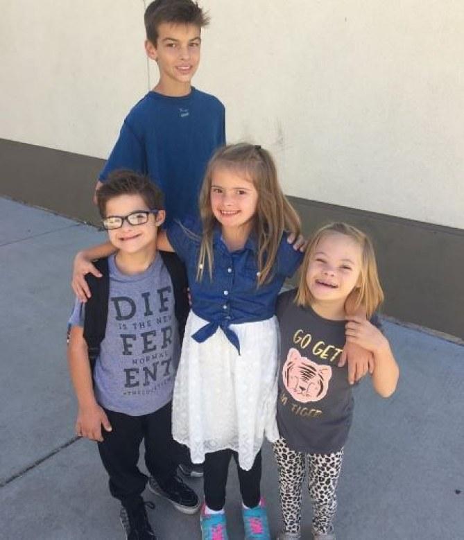 Sofia Sanchez avec sa famille