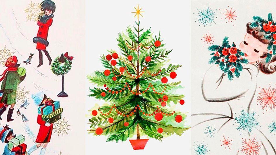Esses cartões e desenhos antigos vão despertar o espírito natalino em você