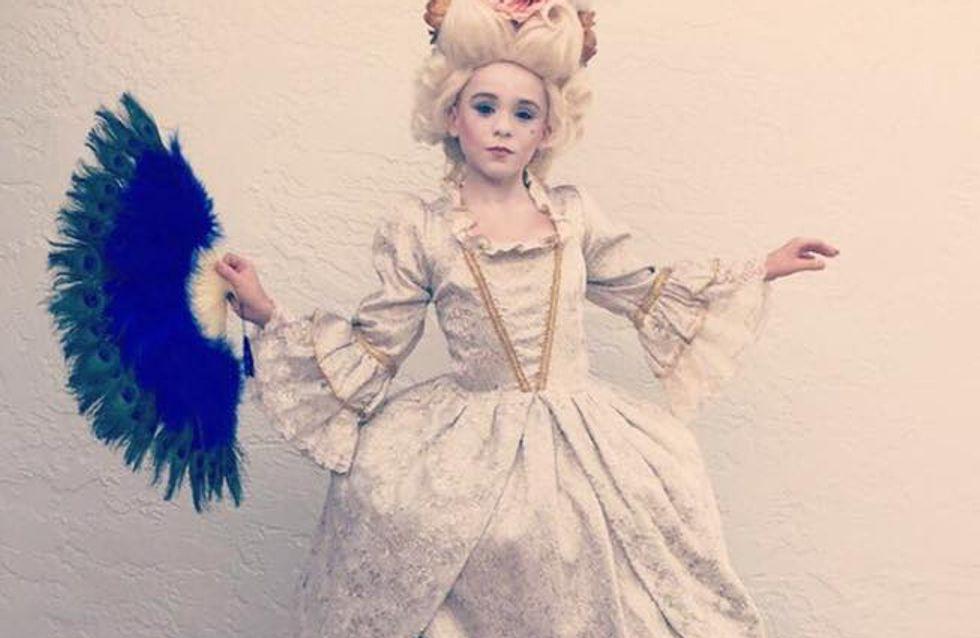 Ce petit garçon s'est déguisé en Marie-Antoinette pour Halloween et c'est CANON (Photos)