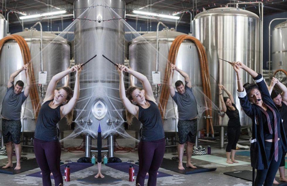 Wingardium Levi-YOGA-sa! This Harry Potter Yoga Class Is Totally Magical