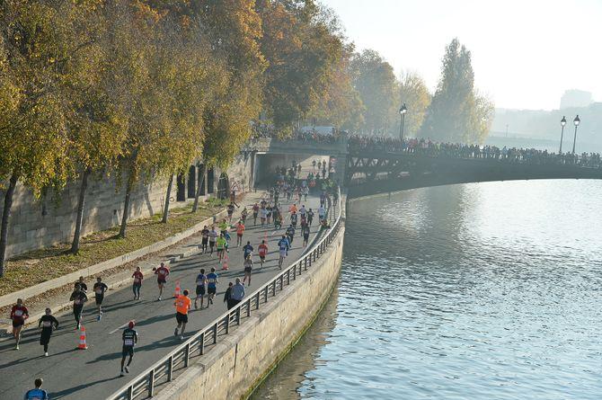 Courir sur les quais parisiens, lors de l'Ekiden, un grand bonheur !