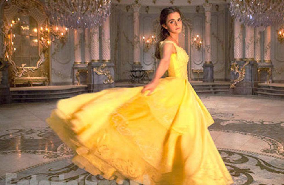 Séquence émotion : les nouvelles photos de la robe d'Emma Watson dans la Belle et la Bête