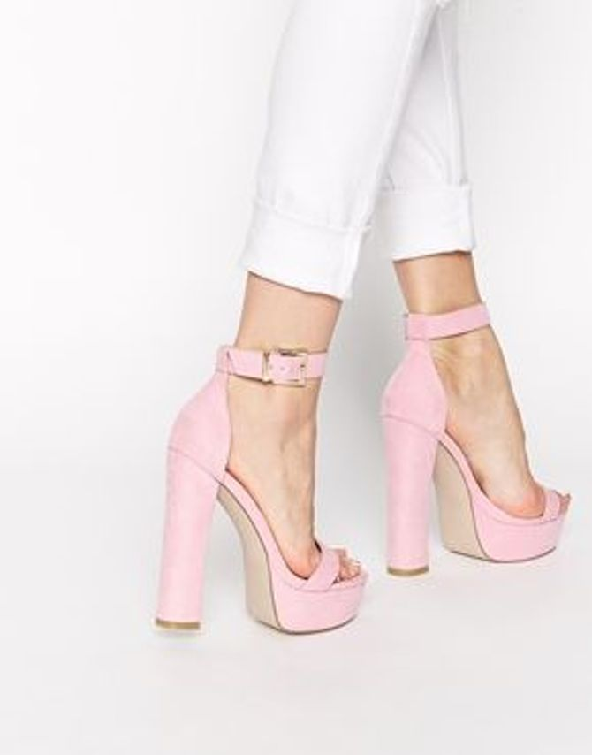 Chaussures à talons roses - Asos