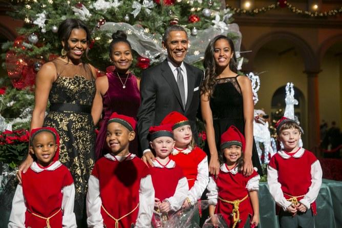 Barack Obama, en famille, pour Noël 2014