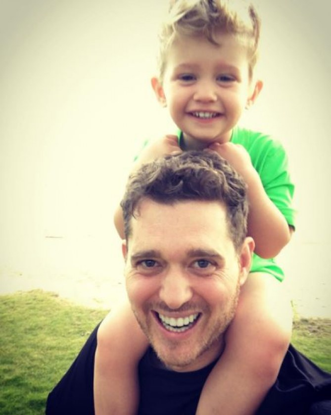 Michael Bublé et son fils Noah