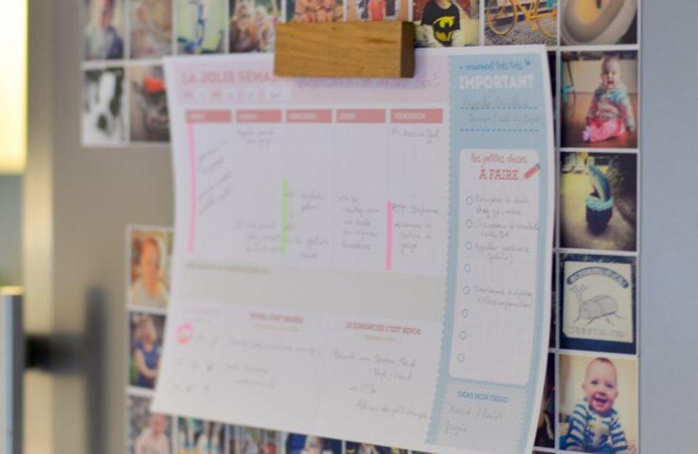 Un planning hebdomadaire pour mieux organiser ses semaines