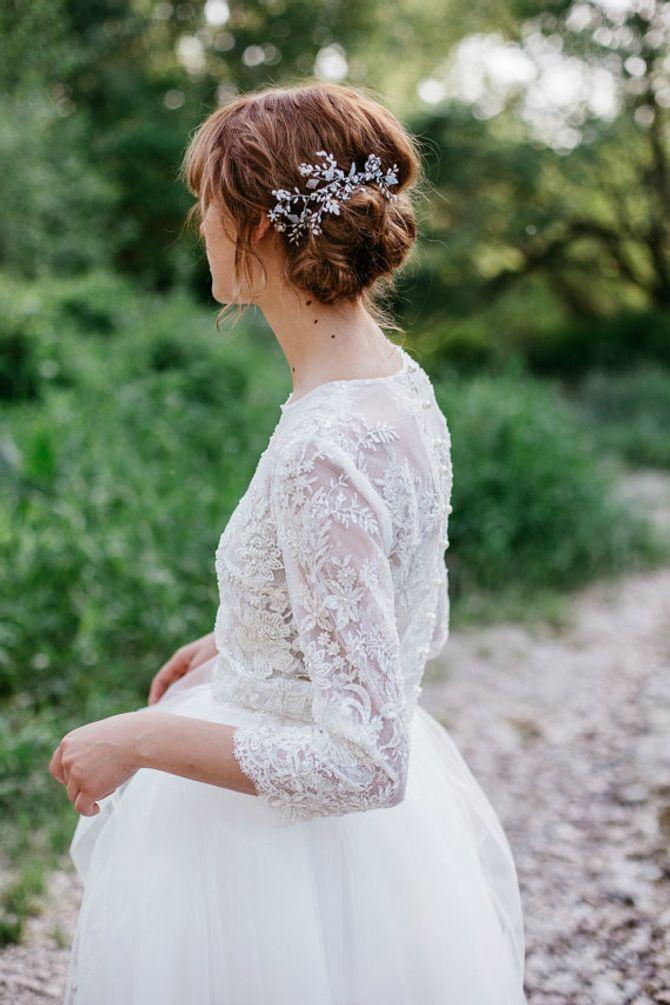 Brautkleid-Topper aus Spitze gehören zu den Brautmode-Trends 2017