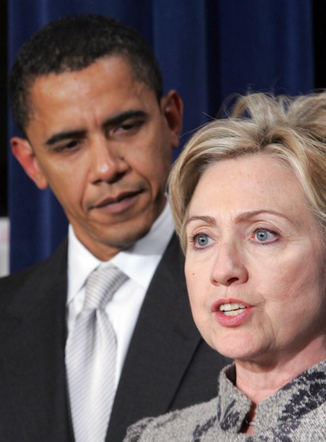 Hillary Clinton et Barack Obama en 2008