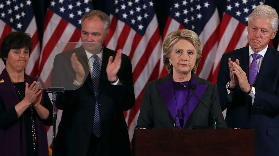 """Hillary Clinton: """"Todavía no hemos roto el techo de cristal, pero algún día, alguien lo hará"""""""