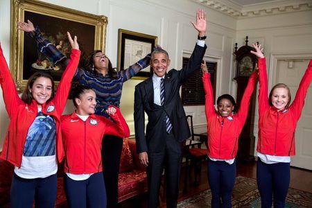 Barack et Michelle Obama à la Maison Blanche