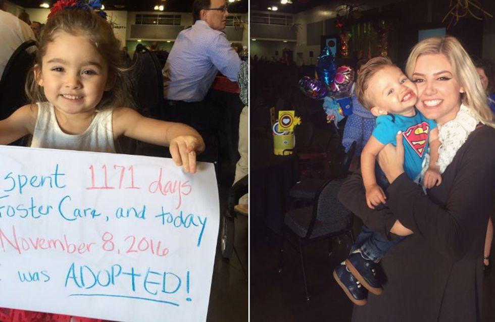 Endlich ein echtes Zuhause: So rührend feiert diese Familie die Adoption ihrer Kinder