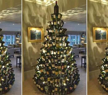 People are Making Wine-bottle Christmas Trees because 'Tis The Season to Be Jolly