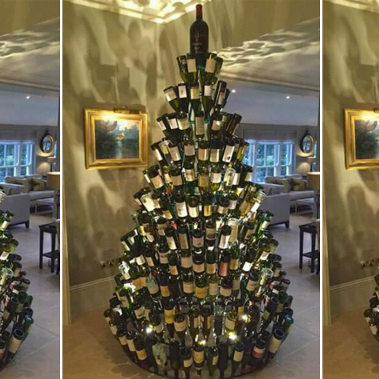 Wine Bottle Christmas Tree Craft.People Are Making Wine Bottle Christmas Trees