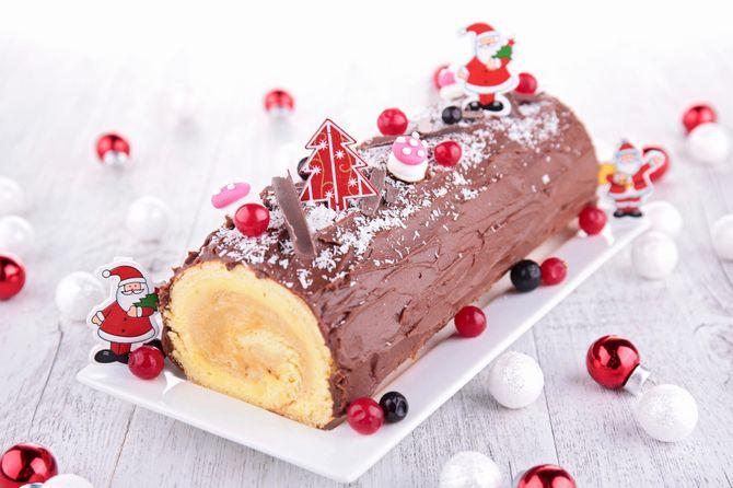 Gateau roulé pour buche de Noël