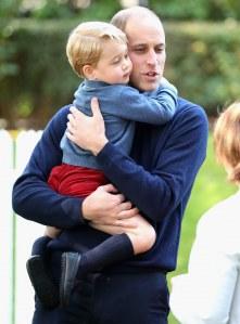 Le prince William avec son fils George