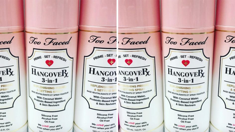 This Too Faced Setting Spray Promises To Hide Your Hangover