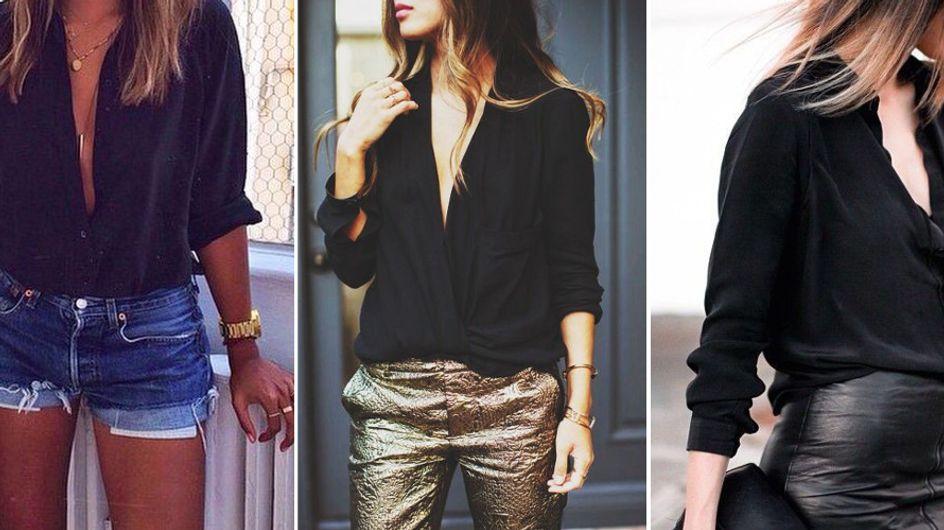 25 raisons pour lesquelles on devrait toutes avoir une chemise noire dans nos placards