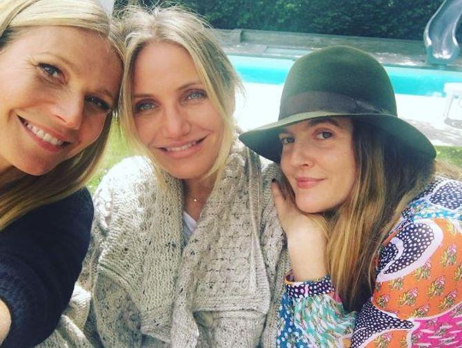 Gwyneth Paltrow,Cameron Diaz et Drew Barrymore s'affichent sans maquillage