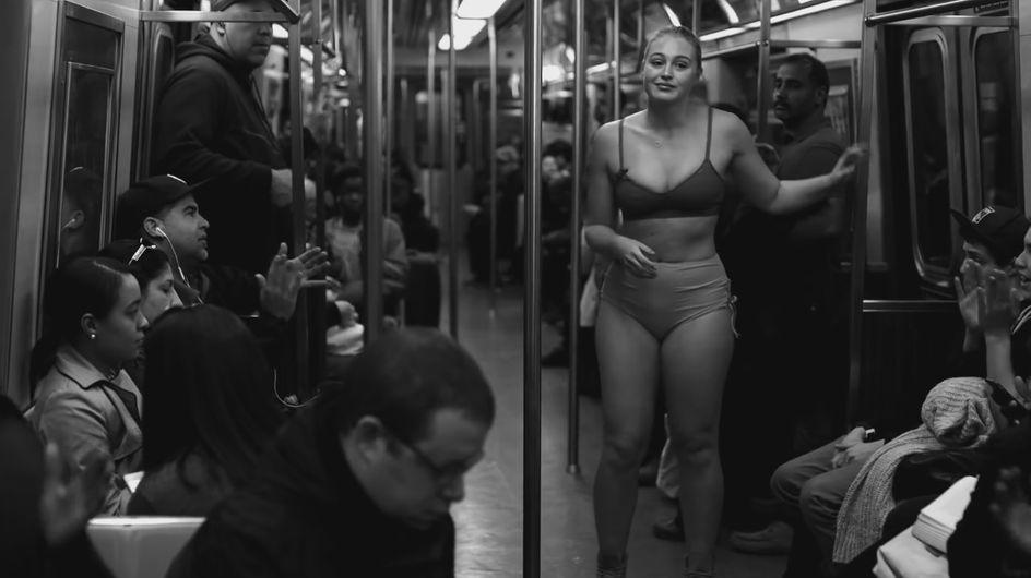 Iskra Lawrence, en sous-vêtements dans le métro, demande aux femmes du monde entier de s'aimer telles qu'elles sont (Vidéo)