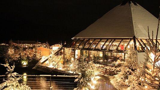 Weihnachtsterrasse im Millstätter See, Österreich