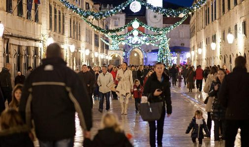 Weihnachtsmarkt in Dubrovnik, Kroatien