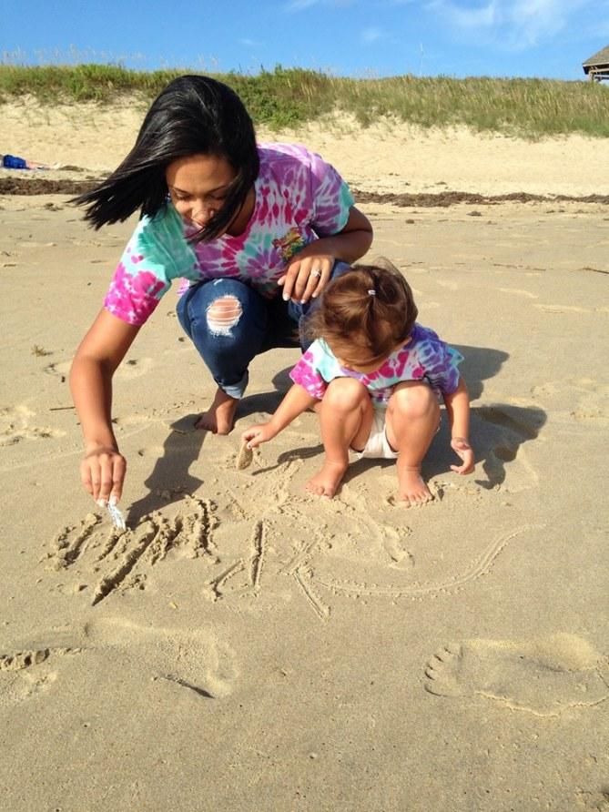 Audrey Nicole et sa fille