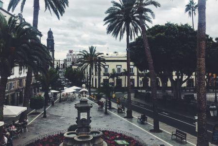 Plaza Alameda de Colón desde el Gabinete Literario