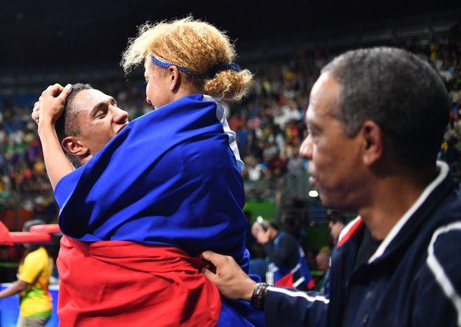 Estelle Mossely et Tony Yoka aux JO de Rio