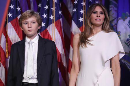 Barron et Melania Trump